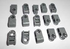 Lego (6536) 15 Kreuz/Pin Verbinder, in dunkelgrau aus 7661, 8297, 9395, 8849