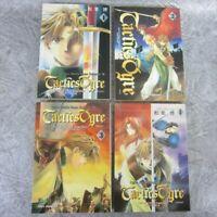 TACTICS OGRE Manga Comic Complete Set 1 - 4 HIROSHI MATSUBA Book EX