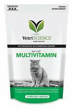 VetriScience Nu Cat MultiVitamin for Cats 30 Chews 1.32oz