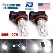 2 for 2003-2010 Dodge Ram 1500 LED 9006 HB4 100W Super White Fog Driving Light