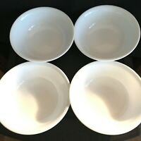 """CORELLE Soup Cereal Bowls Winter Frost White  6-1/4"""" round in diameter Set of 4"""