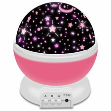 Romantic LED Starry Night Sky Galaxy Projector Lamp Star light Cosmos Gift pink