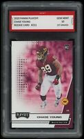 2020 Chase Young Panini Playoff 1st Graded 10 Washington Redskins Rookie RC Card
