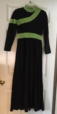 Vintage Custom Mod Evening Gown Dress VLV St Patrick's Day Green Tie Ball