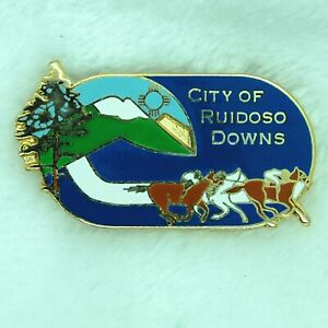 City of Ruidoso Downs Horse Racing Lapel Hat Pin Mexico All American Futurity