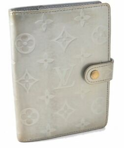 Authentic Louis Vuitton Vernis Agenda PM Day Planner Cover Light Green LV A4559