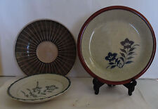 Vintage Ceramic Glazed Condiment Bowls Dishes Plates Dish 3 Assorted