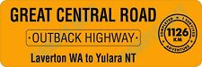 Great Central Road / Outback Highway Bumper Sticker