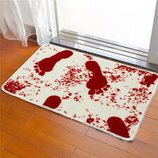White Polyester Blood Footprints Stained Bath Shower Trick Bathroom Mats New