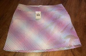 NEW NWT Womens Nike Golf Dri-Fit FUN PRINT Athletic Skort Skirt Size 16