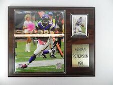 Adrian Peterson Minnesota Vikings Plaque,Holzbild,38 cm,Football NFL,neu