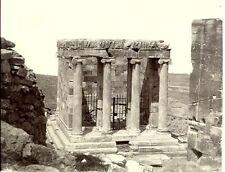 Greece - Temple of Athene Nika at Athens. Perhaps by Bonfils. c 1873. Albumen.