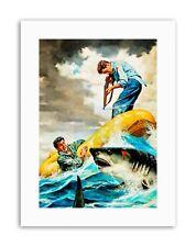 Pulp Fiction Shark Attack Illustration Canvas Art Prints