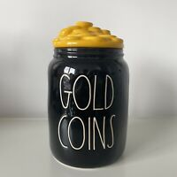 New Rae Dunn Baby Gold Coins Black & Yellow Figural Canister - St. Patrick's Day