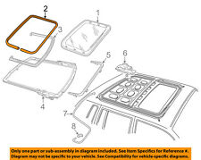 FORD OEM Sunroof Sun Roof-Weatherstrip Seal 6W1Z5451884AA