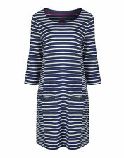 Joules 3/4 Sleeve Striped Dresses for Women