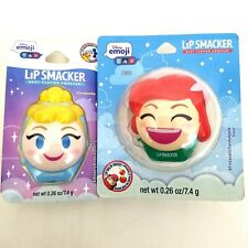 Disney Emoji Lip Smacker Lip Balm Cinderella and Ariel Princess (2 Pack)