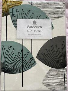 SANDERSON Dandelion Clocks king Size DUVET COVER With 2 Pillowcases