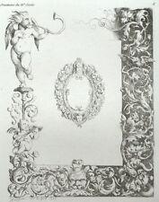 Angelot Puttis ornement architecture gravure Lucien-François Feuchère 1835