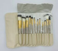 Platinum Professional Makeup Brush Set with Pouch - Champagne - 12 Piece new