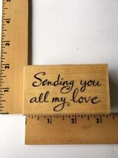 Uptown Rubber Stamps - Running Rhino & Co - Sending You My Love -RR26023 - NEW