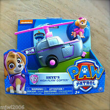 Nickelodeon PAW PATROL SKYE'S HIGH FLYIN' COPTER Helicopter Pink Rescue Vehicle
