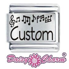 Personalised Music Notes Name - 9mm JSC for Classic Size Italian Charm Bracelet