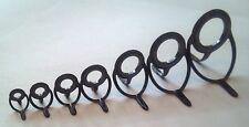 7 Pcs  Set BBTSG Black Round Fishing Rod Guides Spinning Casting Size 6 - 25