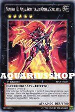 Yu-Gi-Oh! Numero 12 Ninja Armatura di Ombra Scarlatta SP13-IT030 ZEXAL Fortissim