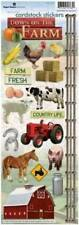 ON THE FARM Scrapbook Stickers and Border