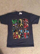 Marvel RAD DAD Graphic T-shirt Sz L Gray Avengers Thor Hulk Iron Man Fathers Day
