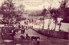 1920 BUENOS AIRES (Rep. Argentina) PALERMO - PASEO LOS ROSALES Y PUENTE JAPONES