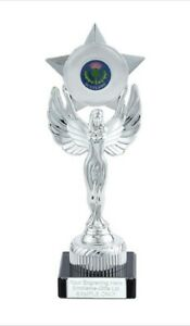 Scotland Thistle Unity Victory Award 230mm Trophy (K) ENGRAVED FREE