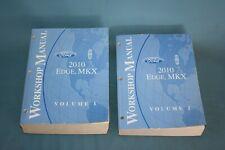 2010 Ford Edge Lincoln MKX Service Workshop Repair Maintenance Manual Set