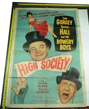 High Society Movie Poster, 1955, Original