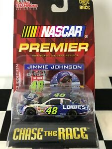RC/ERTL Chase The Race 1:64 Jimmie Johnson #48 Lowe's Silver Chrome 2003 Chevy