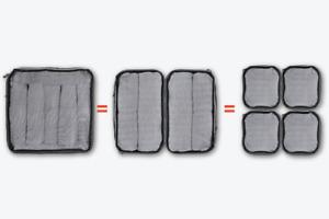 WANDRD Packing Cube - BUNDLE - Black full set SM/MED/LARGE PC-BD-BK-1 (UK)  BNIP