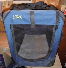 DolcePet Faltbare Transportbox  für Hunde & Katzen, M, Blau