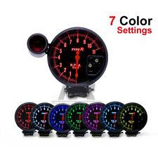 "5"" Black Tachometer Monster Tacho Gauge RPM + Shift Light Peak Warning 11000 RPM"