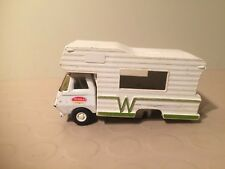 Vintage Tonka RV Camper Mini Winnebago Pressed Steel Cab - White Camper