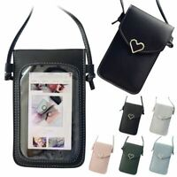 Cross-body Touch Screen Cell Phone Wallet Shoulder Bag Leather Pouch Case US