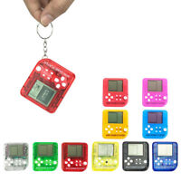 Portable Mini Game Console Keychain Handheld Kids Educational Electronic Toys JD
