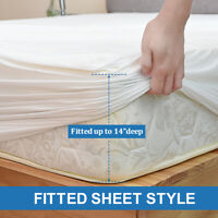 BAMBOO Mattress Protector Waterproof Soft Hypoallergenic Fitted Cover Pad Twin