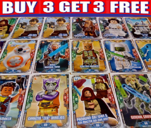 LEGO STAR WARS TRADING CARDS ☆ SERIES 1 (2018)  BUY 3 GET 3 FREE!! SINGLE CARDS
