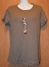 Womens Brown NorthCrest Short Sleeve Shirt Size Small NWT NEW