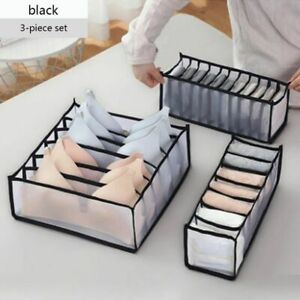 Storage Bra Underwear Organizer Drawer Divider Closet Box Sock Foldable Ties Bag