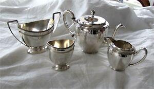 Dutch Sterling Silver Tea set 833 fine  Antique 743 grams $589+ scrap