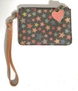 ORIGINAL DOONEY & BOURKE SIGNATURE STAR PATTERN WRISTLET W/ PINK HEART LOGO