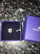 Swarovski Crystal Ring Genuine Authentic Small Silver  Size 52 UK O