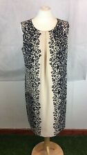 Debenhams Collection Size 14 Beige Leopard Print Sleeveless Sheath Dress